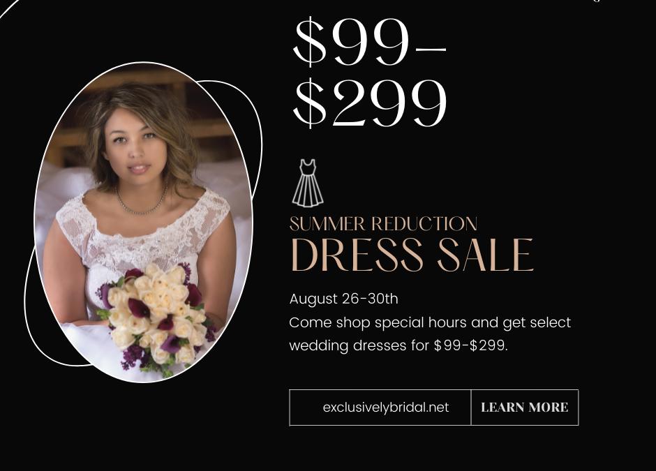 Summer Reduction Dress Sale